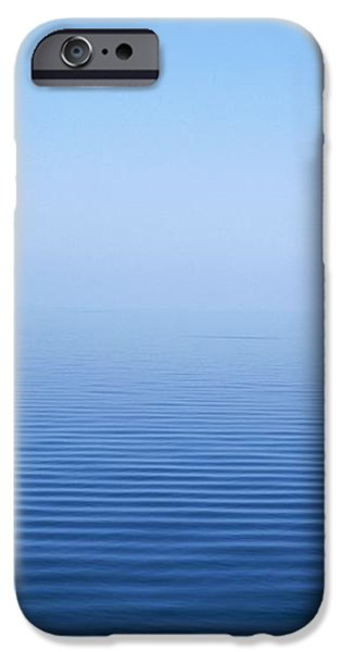 Calm Blue Water Disappearing Into iPhone Case by Axiom Photographic