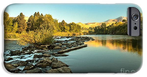 Silk Water iPhone Cases - Calm Payette iPhone Case by Robert Bales