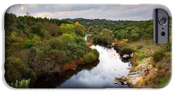 Atmosphere iPhone Cases - Calm River iPhone Case by Carlos Caetano