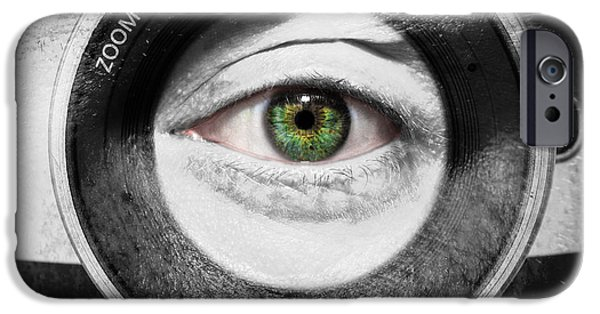 Aperture Photographs iPhone Cases - Camera Face iPhone Case by Semmick Photo