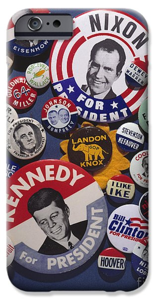 CAMPAIGN BUTTONS iPhone Case by Granger
