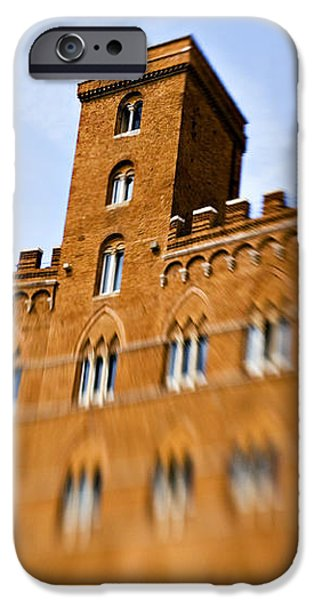 Campo of Siena tuscany Italy iPhone Case by Marilyn Hunt