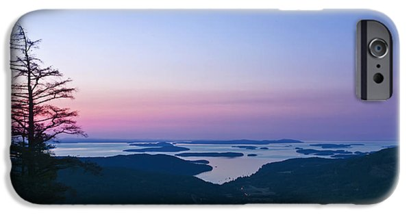Bc Coast iPhone Cases - Canadaian Gulf Islands at Dawn iPhone Case by Rob Tilley