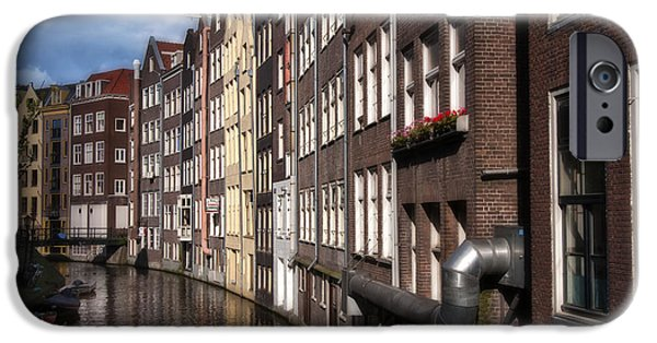 River View iPhone Cases - Canal Houses iPhone Case by Joan Carroll