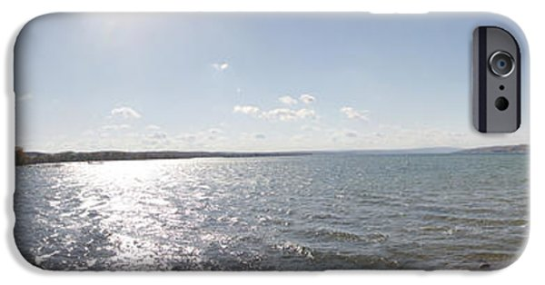 Canandaigua Lake iPhone Cases - Canandaigua Lake Panorama iPhone Case by William Norton