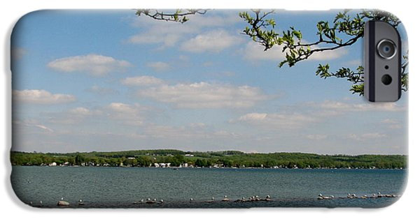 Canandaigua Lake iPhone Cases - Canandaigua Lake iPhone Case by Rose Santuci-Sofranko