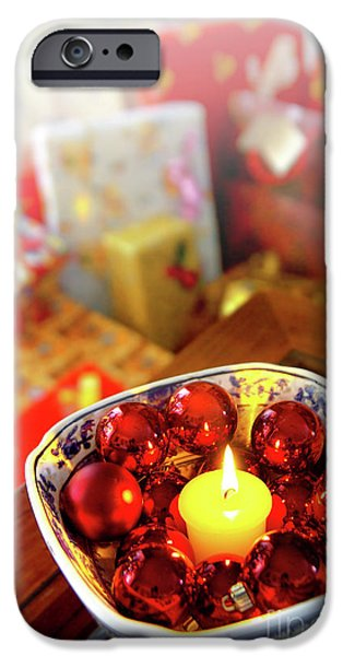 Candle and balls iPhone Case by Carlos Caetano