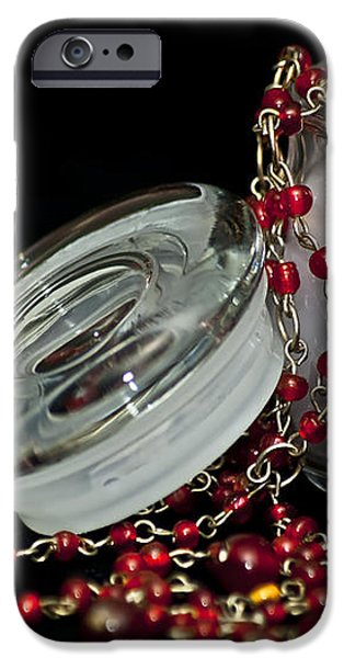 Candle and Beads iPhone Case by Carolyn Marshall