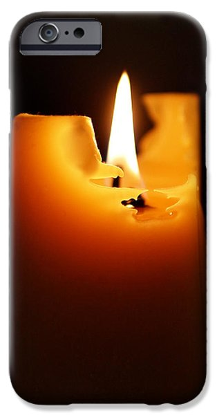 Candlelight iPhone Case by Rona Black