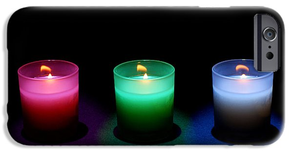 Symmetrical Photographs iPhone Cases - Candles iPhone Case by Cale Best