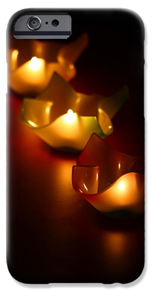 Blurred iPhone Cases - Candleworks iPhone Case by Evelina Kremsdorf