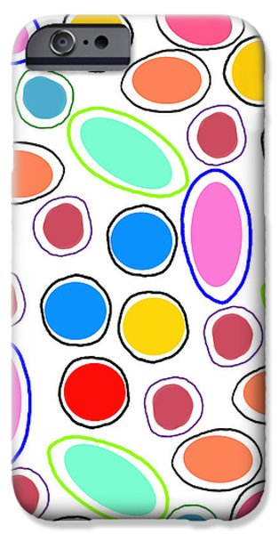 Louisa iPhone Cases - Candy Spots iPhone Case by Louisa Knight