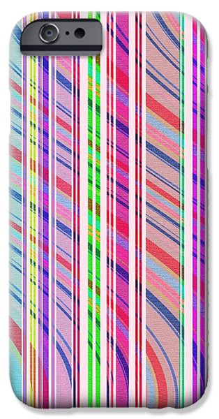Hereford iPhone Cases - Candy Stripe iPhone Case by Louisa Knight