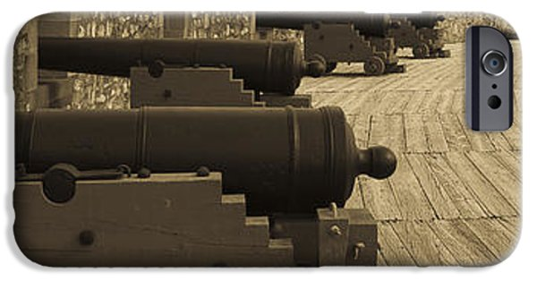 Weapon iPhone Cases - Cannons at Louisberg Fortress iPhone Case by Darcy Michaelchuk