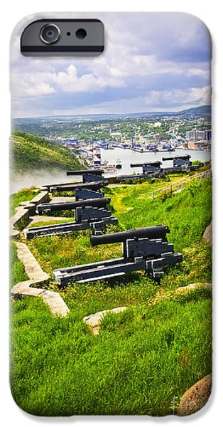 Cannons on Signal Hill near St. John's iPhone Case by Elena Elisseeva