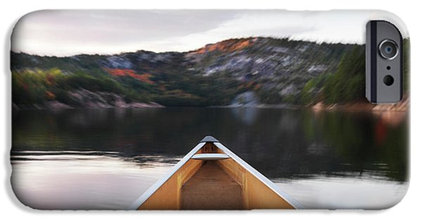 Canoe iPhone Cases - Canoeing in Ontario Provincial Park iPhone Case by Oleksiy Maksymenko