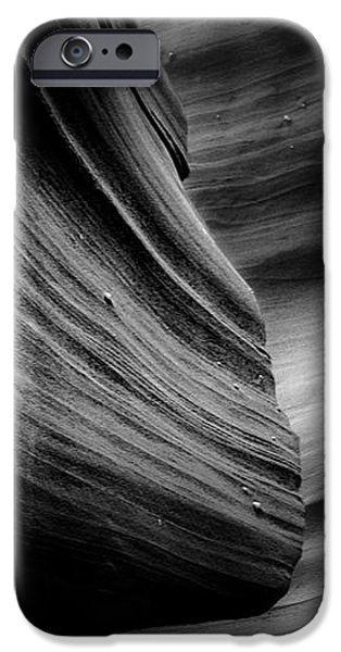 Canyon Curves in Black and White iPhone Case by Christine Till