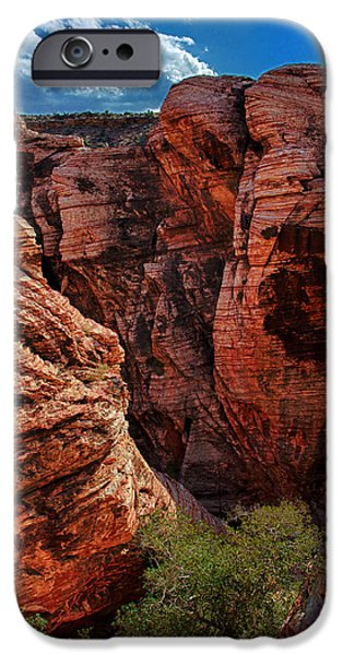 Red Rock iPhone Cases - Canyon Glow iPhone Case by Rick Berk