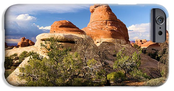 Red Rock iPhone Cases - Canyonlands Needles iPhone Case by Adam Jewell
