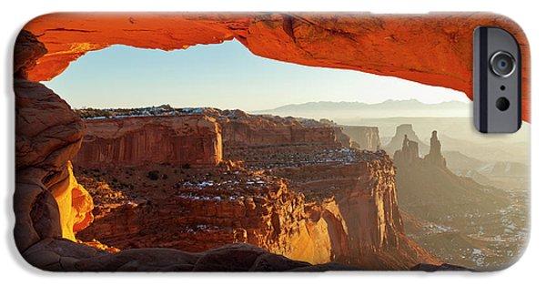 Best Sellers -  - Slickrock iPhone Cases - Canyonlands Sunrise iPhone Case by D Robert Franz