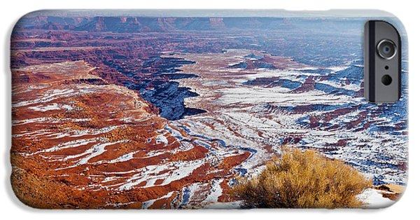 Best Sellers -  - Slickrock iPhone Cases - Canyonlands Winter iPhone Case by D Robert Franz