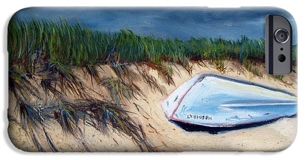 Cape Cod Paintings iPhone Cases - Cape Cod Boat iPhone Case by Paul Walsh
