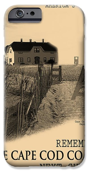 Chatham iPhone Cases - Cape Cod Coast Poster iPhone Case by Dapixara Art