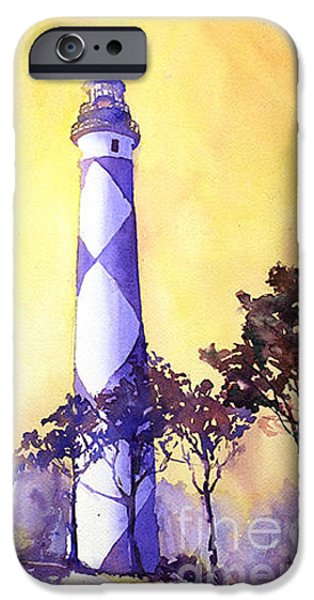 Cape Lookout iPhone Cases - Cape Lookout Lighthouse iPhone Case by Ryan Fox