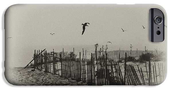 Seagull iPhone Cases - Cape May Morning iPhone Case by Bill Cannon