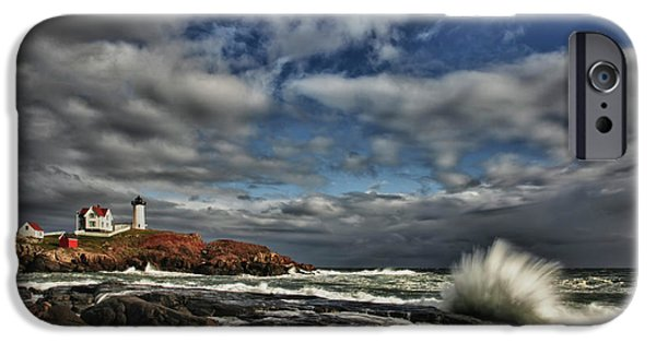 Cape Neddick Lighthouse Photographs iPhone Cases - Cape Neddick Lighthouse iPhone Case by Rick Berk