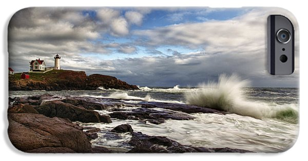 Nubble Lighthouse iPhone Cases - Cape Neddick Maine iPhone Case by Rick Berk