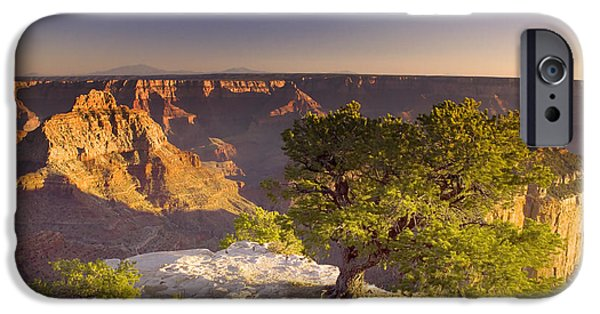 Grand Canyon Digital Art iPhone Cases - Cape Royal Sunset - Grand Canyon iPhone Case by Ellen Heaverlo