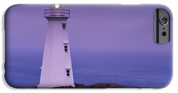 Historic Site iPhone Cases - Cape Spear Lighthouse At Twilight, Cape iPhone Case by Yves Marcoux