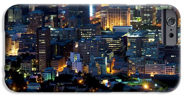 Cape Town iPhone Cases - Cape Towns Tilt Shift  iPhone Case by Fabrizio Troiani