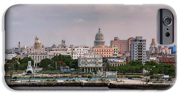 Historic Site iPhone Cases - Capitol seen from La Cabana. La Habana. Cuba iPhone Case by Juan Carlos Ferro Duque