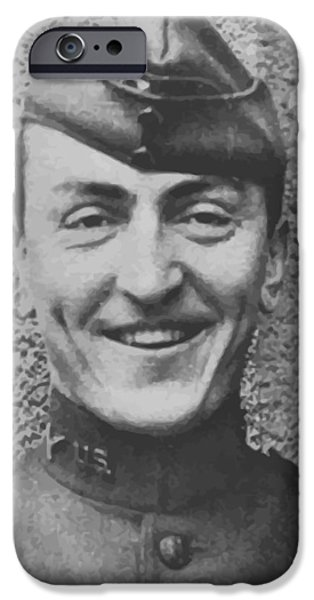 World War One Paintings iPhone Cases - Captain Eddie Rickenbacker iPhone Case by War Is Hell Store