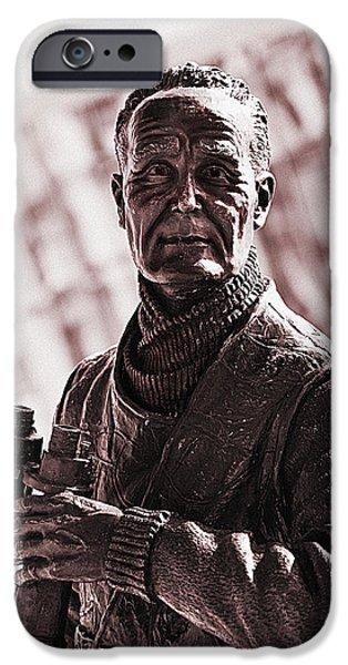 Captain F J Walker iPhone Case by Meirion Matthias