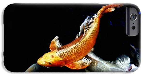 Butterfly Koi Photographs iPhone Cases - Captain Koi iPhone Case by Don Mann
