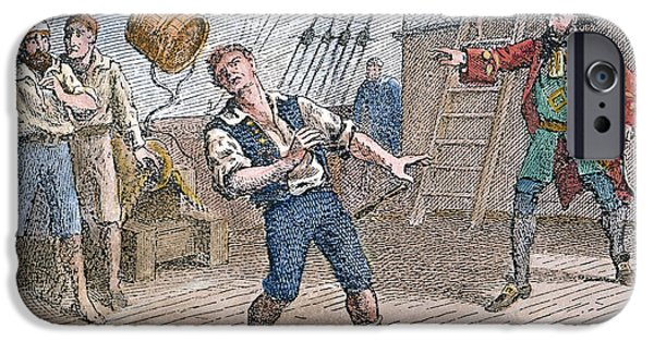 Pirate Ship iPhone Cases - Captain William Kidd iPhone Case by Granger