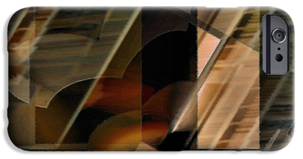 Abstract Expressionist iPhone Cases - Captive Hearts iPhone Case by John Krakora