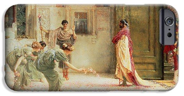 Roman Emperor iPhone Cases - Caracalla iPhone Case by Sir Lawrence Alma-Tadema