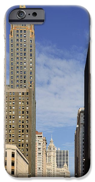 Wrigley iPhone Cases - Carbide and Carbon and Wrigley Building - Two Chicago Classics iPhone Case by Christine Till