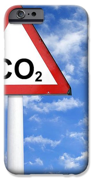 Carbon Dioxide And Global Warming iPhone Case by Victor De Schwanberg