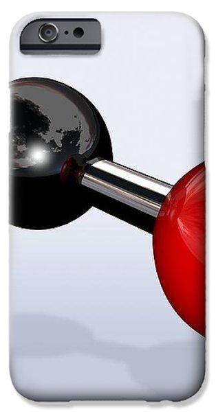 Carbon Dioxide Molecule iPhone Case by Miriam Maslo