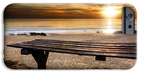 Old Plank Tables Photographs iPhone Cases - Carcavelos Beach iPhone Case by Carlos Caetano
