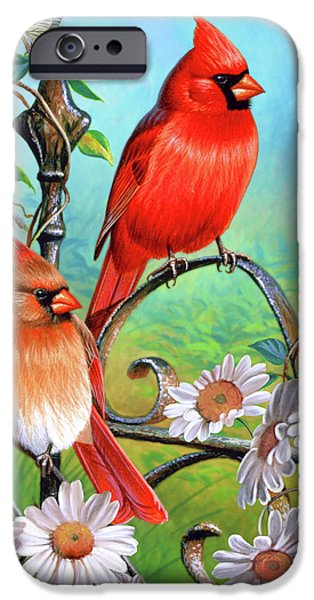 Cynthie Fisher iPhone Cases - Cardinal Day 3 iPhone Case by JQ Licensing