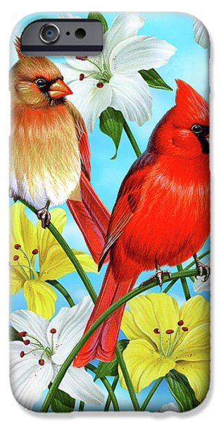 Cynthie Fisher iPhone Cases - Cardinal Day iPhone Case by JQ Licensing