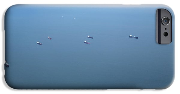 States iPhone Cases - Cargo Ships And Oil Tankers iPhone Case by Roberto Westbrook