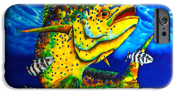 Sports Tapestries - Textiles iPhone Cases - Caribbean Bull iPhone Case by Daniel Jean-Baptiste