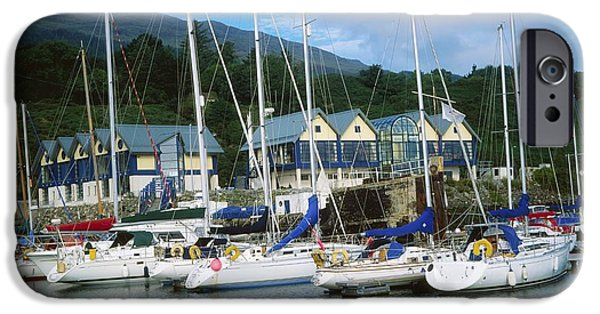 Buildings By The Ocean iPhone Cases - Carlingford Marina, Carlingford, County iPhone Case by The Irish Image Collection